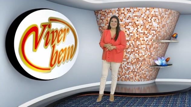 Janaina Hohne no programa Viver Bem (Foto: Reprodução/TV Tribuna)
