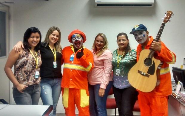 Garis da alegria visitam Rede Amazônica pelo Dia do Meio Ambiente (Foto: Arquivo Pessoal)