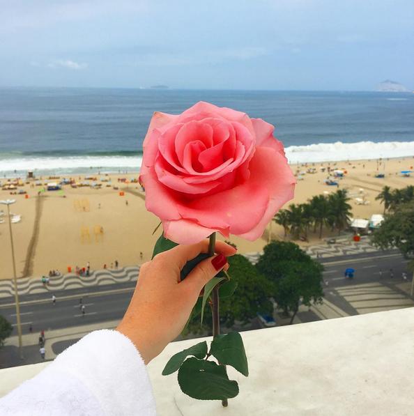 Marina Ruy Barbosa mostra rosa que ganhou (Foto: Reprodução/Instagram)