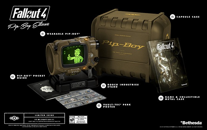 Edição limitada de Fallout 4 para Xbox One também conta com Pipboy (Foto: Divulgação/Bethesda)