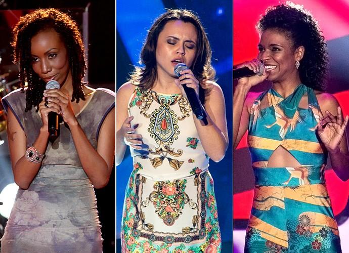 Quesia, Maysa e Cris cantaram sucesso de Alicia Keys no The Voice Brasil (Foto: Isabella Pinheiro/Gshow)