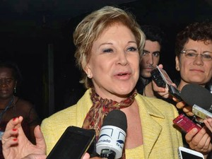 A senadora Marta Suplicy ao retornar ao Senado, depois de ter deixado o Ministério da Cultura (Foto: Antonio Cruz / Agência Brasil)