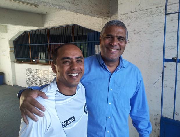 Erich Bonfim e Jorge Ferreira, o Índio (Foto: Bruno Marques/Globoesporte.com)