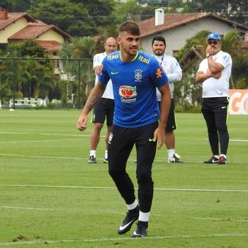 Felipe Vizeu seleção brasileiro sub-20 (Foto: Lucas Loos / GloboEsporte.com)