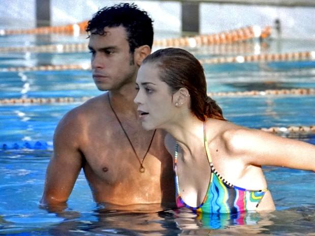 Gaby se irrita com Gustavo (Foto: TV Globo)