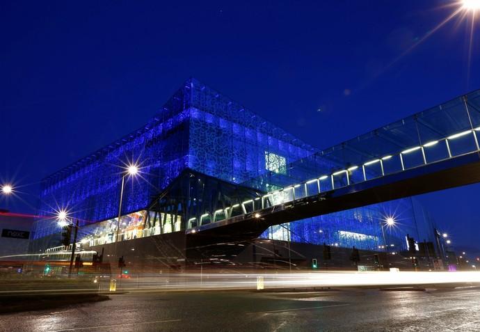 Campanha deixa Leicester todo de azul (Foto: Reuters)