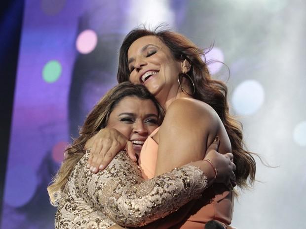 Preta Gil canta com Ivete Sangalo em show no Rio (Foto: Isac Luz/ EGO)