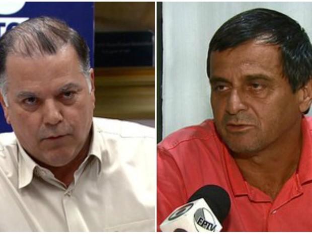 Poianas (à esq.) e Monsignati foram ouvidos pela CPI (Foto: Reprodução/EPTV)