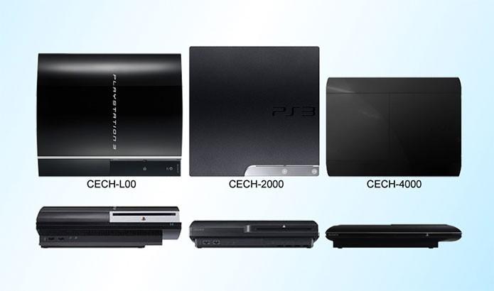 Os três principais modelos do PS3 (Foto: Reprodução/R-Visions)