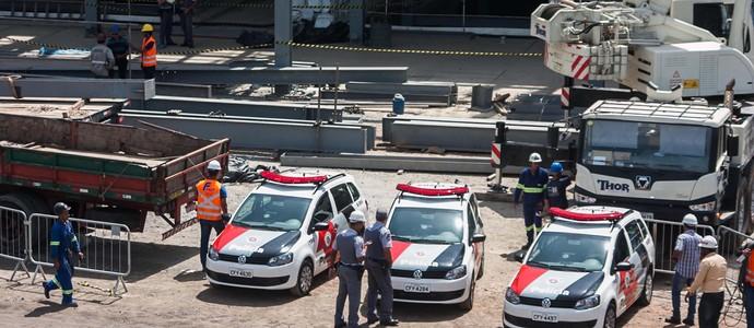 acidente arena corinthians (Foto: Taba Benedicto/Futura Press)