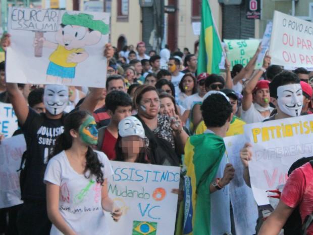 Protesto em Manaus (Foto: Tiago Melo/G1 AM)
