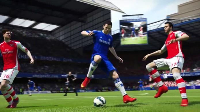 Eden Hazard demonstra as novas técnicas disponíveis em Fifa 15 (Foto: Reprodução/YouTube) (Foto: Eden Hazard demonstra as novas técnicas disponíveis em Fifa 15 (Foto: Reprodução/YouTube))