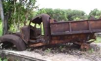 No AP, turistas registram abandono de base usada na 2ª Guerra Mundial (Afonso do Vale/Arquivo Pessoal)