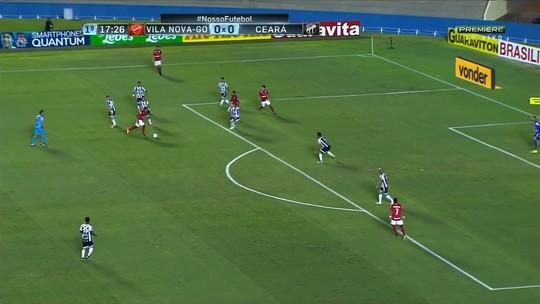 Vila Nova e Ceará empatam por 1 a 1 em jogo fraco tecnicamente no Serra Dourada