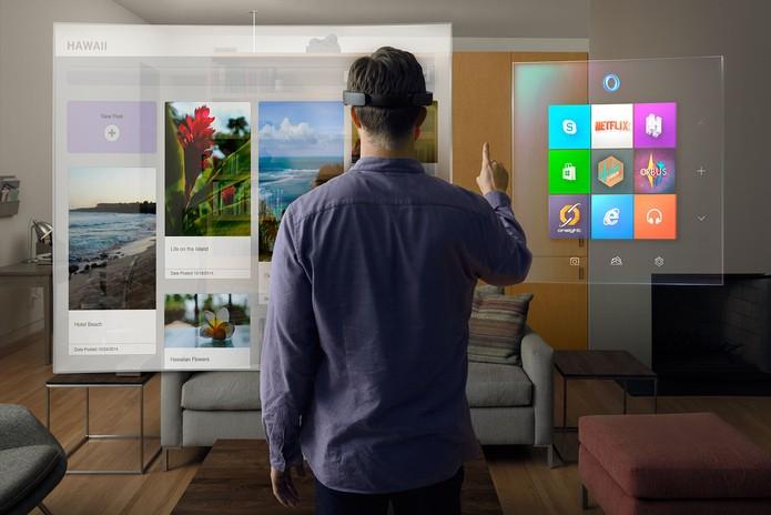 Hololens e hologramas ainda devem demorar alguns meses até estarem disponíveis para o usuário (Foto: Divulgação/Microsoft)