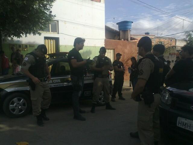 Polícias Civil e Militar realizaram a opinião para combater crimes contra o patrimônio em Montes Claros (Foto: Michelly Oda / G1)