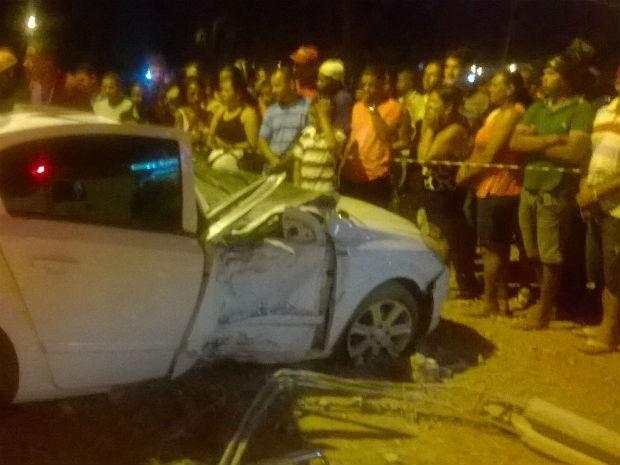 Acidente deixa quatro feridos na BA-290 (Foto: Edvaldo Alves/ site: Liberdadenews)
