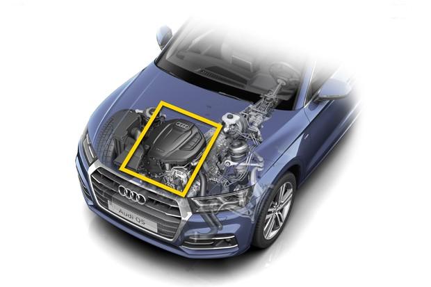 Motor longitudinal do modelo Audi Q5 (Foto: Audi)