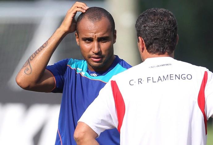 Deivid Luxemburgo treino Flamengo (Foto: Alexandre Cassiano / Agência O Globo)