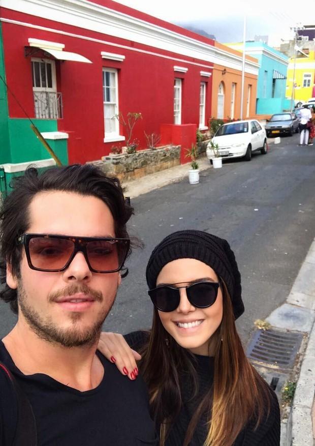 Giovanna Lancelotti e Luca na África do Sul (Foto: Reprodução Instagram)