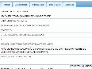 Pedido de Reintregração foi recebido nesta segunda, 6, pela justiça de Altamira (Foto: Reprodução/ Justiça Federal)