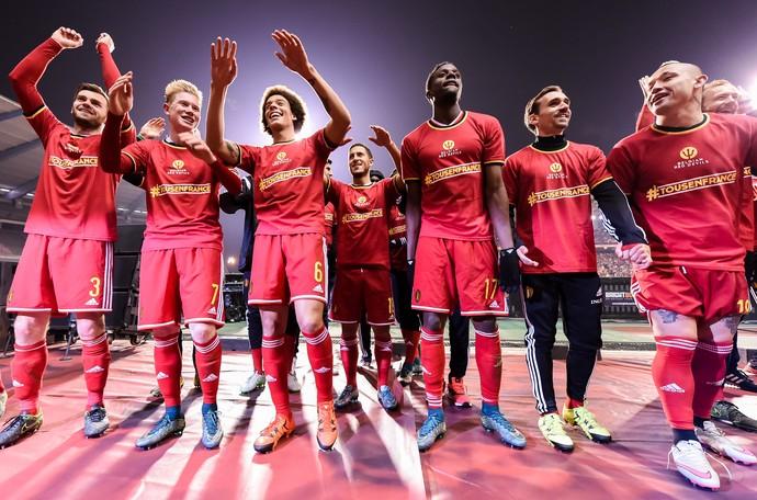 Bélgica festa eliminatórias da Eurocopa primeiro do ranking da Fifa (Foto: AP)