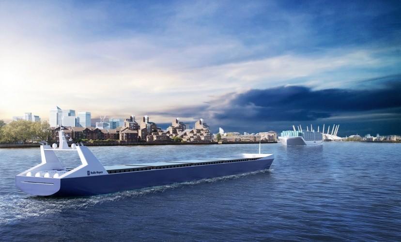 Conceito de navio autônomo da Rolls-Royce (Foto: Divulgação)