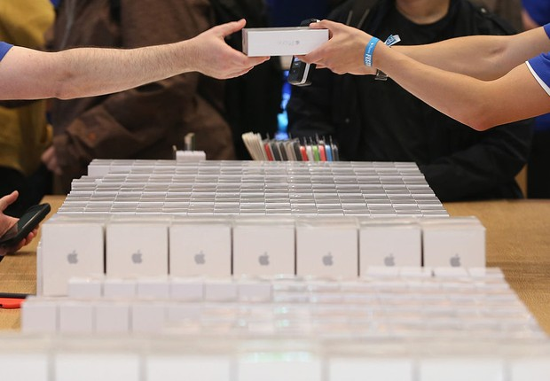 Loja de celulares da Apple (Foto: Sean Gallup/Getty Images)