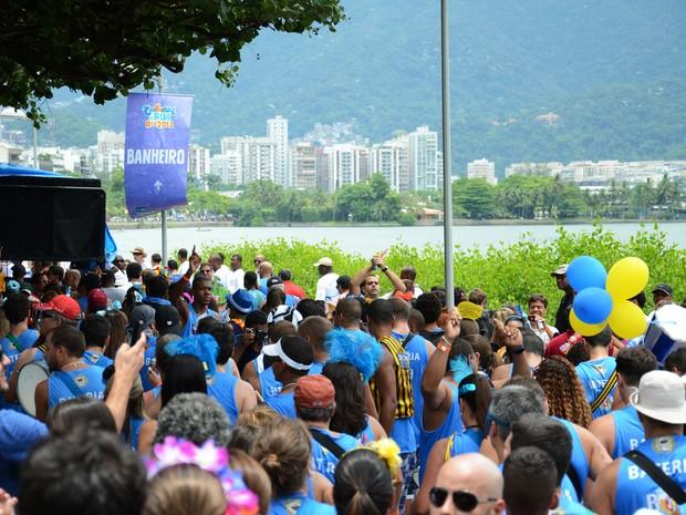 Spanta Neném, que desfilou no sábado, na Lagoa, foi o recordista de detidos por urinar: 77 pessoas (Foto: Alexandre Macieira / Riotur)