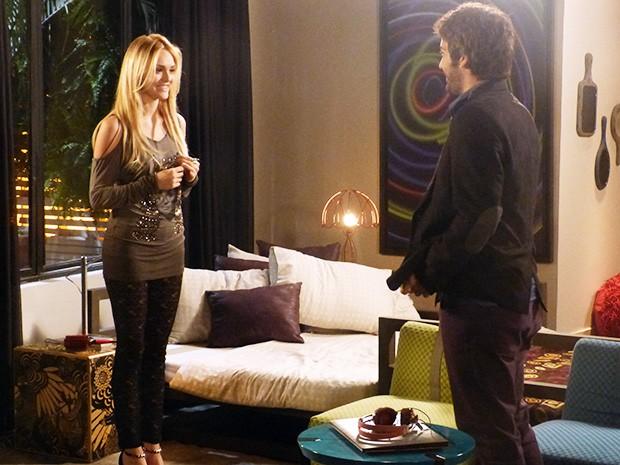 Megan (Isabelle Drummond) conta para Davi (Humberto Carrão) que voltou a enxergar (Foto: Geração Brasil/TV Globo)