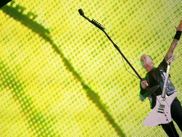 Uma das músicas que mais empolga os fãs do Metallica é  'Memory remains'. (Foto: Flavio Moraes/G1)