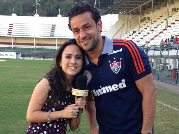 Tatá Werneck entrevista Fred no 'Repórter Por Um Dia' (Foto: Divulgação / TV Globo)