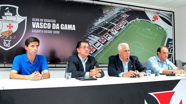 Renê Simões coletiva Vasco apresentação (Foto: Gustavo Rotstein / Globoesporte.com)