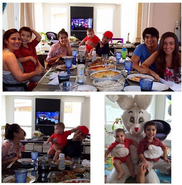 Camilla Camargo compartilhou imagem de Zezé di Camargo com a família (Foto: Instagram)