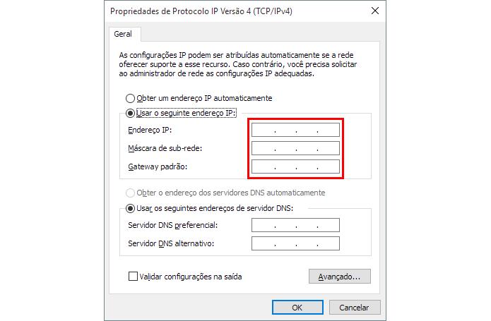 Mude seu endereço de IP (Foto: Reprodução/Paulo Alves)