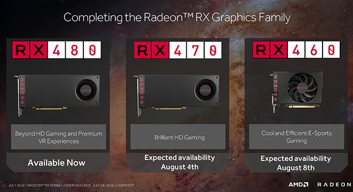 AMD aumenta a família de placas com processadores gráficos Polaris com as novas RX 460 e RX 470 (Foto: Divulgação/AMD)