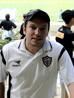 Empresário torcedor do Atlético-MG, no Independência (Foto: Marco Antônio Astoni)