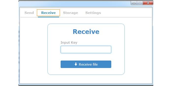 Abra o aplicativo no Chrome e acesse a aba Receive (Foto: Reprodução/Barbara Mannara)