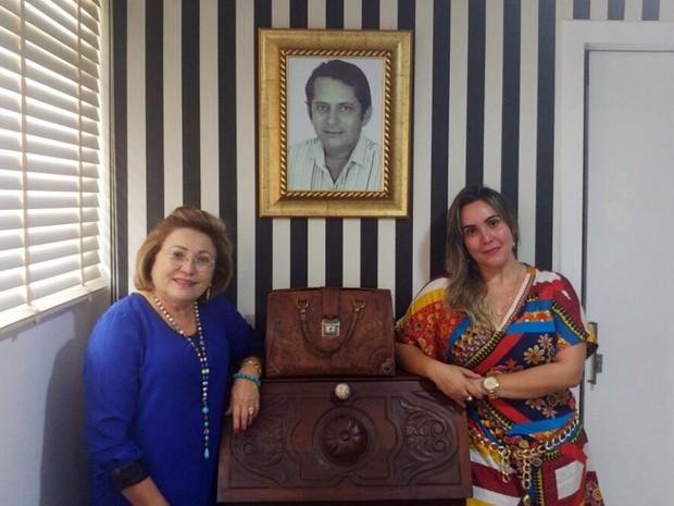 Ex-mulher do médico, Maria Tereza Paiva e filha Teresa Oliveira  (Foto: Teresa Oliveira/Arquivo Pessoal  )