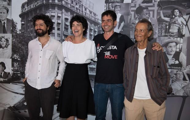 Fernando Alves Pinto, Ana Paula Arósio, Vinícius Coimbra e Nelson Xavier (Foto: Selmy Yassuda/QUEM)