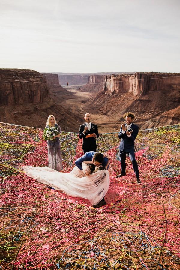 Casanento de Ryan Jenks e Kimberly Weglin  (Foto: The Hearnes/Divulgação)
