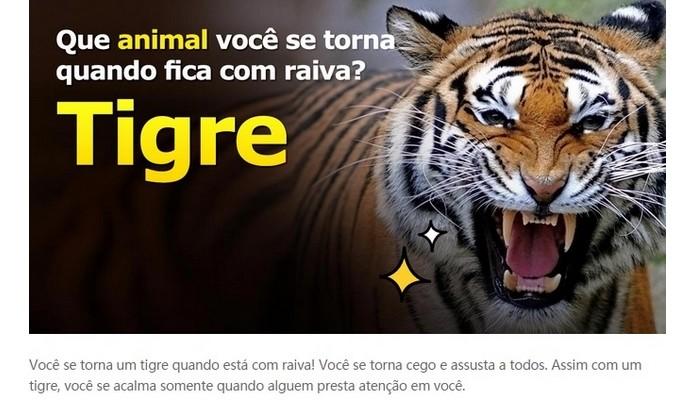 Enquete do VonVon diz que animal você é quando está com raiva (Foto: Reprodução/Raquel Freire)
