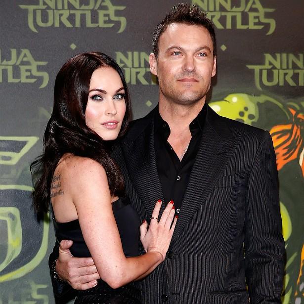 Os atores Megan Fox e Brian Austin Green se conheceram no set do seriado 'Hope & Faith' (2003–2006). Megan fazia parte do elenco fixo e Brian fez uma participação especial. Foi paixão à primeira vista. Eles se casaram em 2010 e têm dois filhos. (Foto: Getty Images)