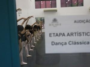 Candidatos de todo o país participaram da audição do Bolshoi (Foto: Vanderléia Macalossi/Divulgação)