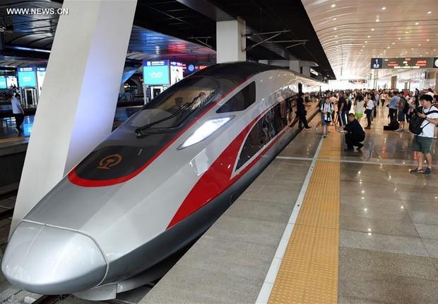Novo trem-bala Fuxing é inaugurado na China (Foto: VCG/Getty Images)