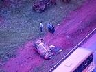 Capotagem deixa três pessoas feridas às margens da Epia Sul, no DF
