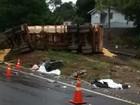 Casal e duas filhas morrem em acidente na rodovia BR-376, no PR