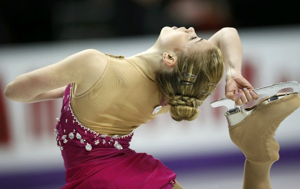 Patinação Isadora Williams no Mundial do Canadá (Foto: Reuters)