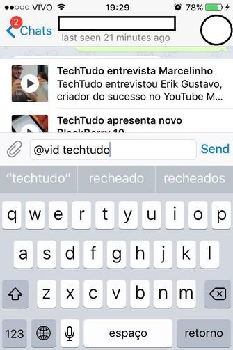 Envio de vídeo pelo Telegram (Reprodução/Fhillipe Rangel) (Foto: Envio de vídeo pelo Telegram (Reprodução/Fhillipe Rangel))