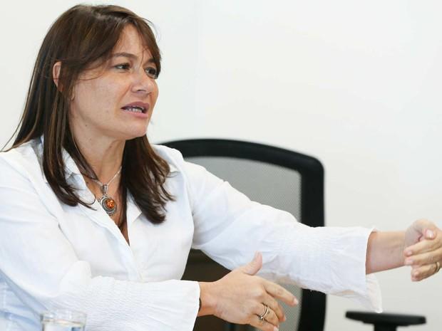 A secretária Márcia de Alencar durante entrevista no dia 15 de abril (Foto: Valter Campanato/ABr)